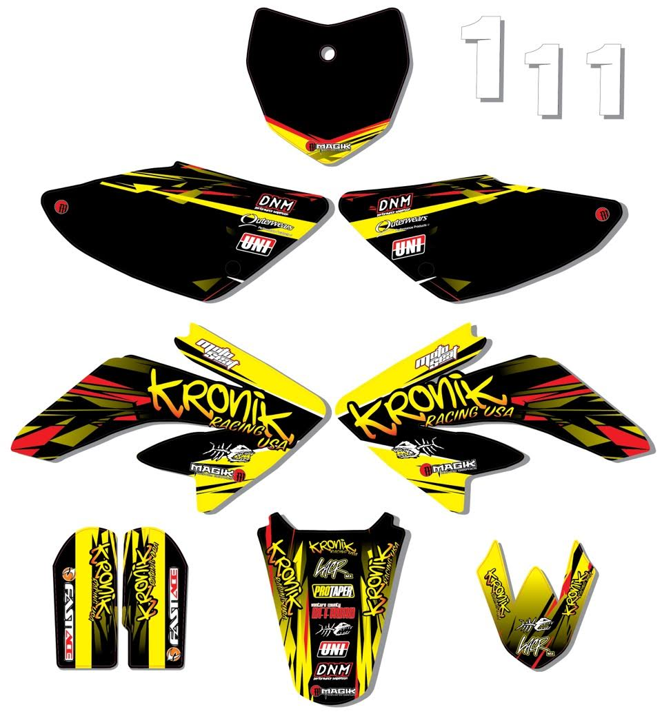 Kronik Racing team series graphics kit