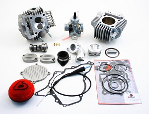 TB Parts 143cc Big Bore Kit, Race Head and Mikuni VM 26mm Carburetor Kit